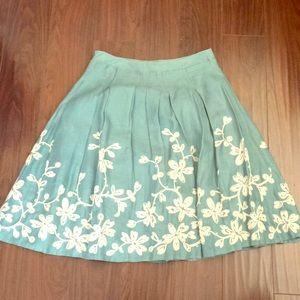 Talbots Linen Circle Skirt